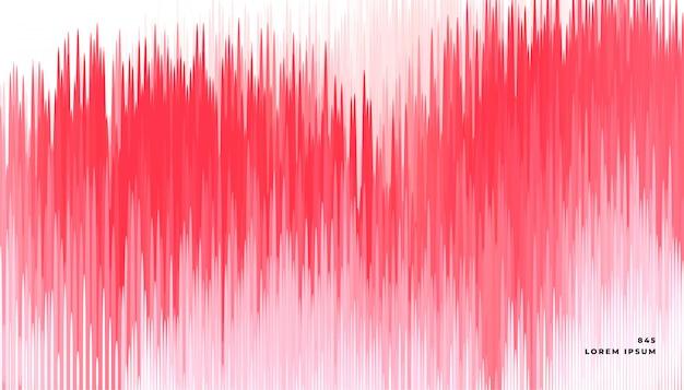 Abstrait Lignes Rouge Glitch Vecteur gratuit