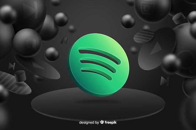 Abstrait avec logo spotify Vecteur Premium