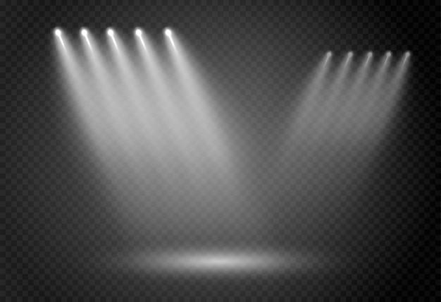 Abstrait lumière rougeoyante de projecteur. Vecteur Premium