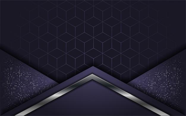 Abstrait luxe violet avec couche de recouvrement Vecteur Premium