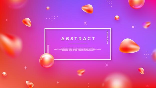 Abstrait avec mélange de couleurs Vecteur Premium