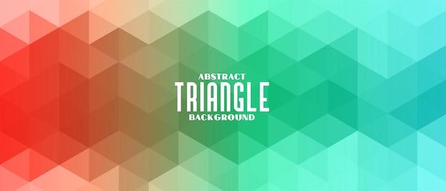 Abstrait De Modèle De Bannière Triangle Coloré Vecteur gratuit