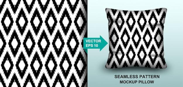 Abstrait Modèle Sans Couture Ligne Fond Noir Et Blanc. Vecteur Premium