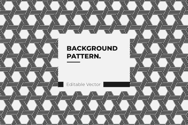 Abstrait Modèle Sans Couture Ligne Minimale Art De Style Hexagonal - Illustration De Modèle Vecteur Premium