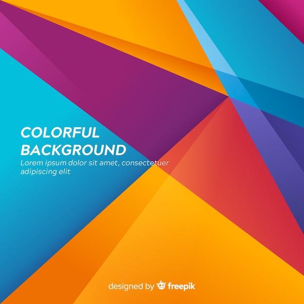 Abstrait Moderne Coloré Avec Des Formes Vecteur Premium