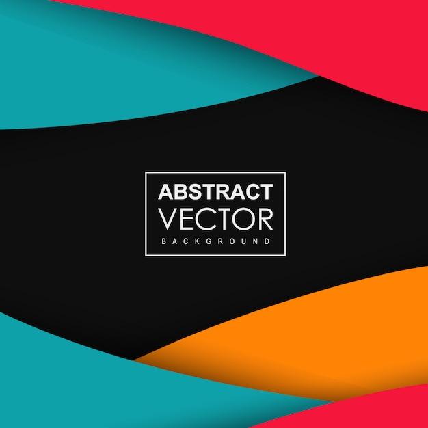 Abstrait moderne coloré Vecteur gratuit