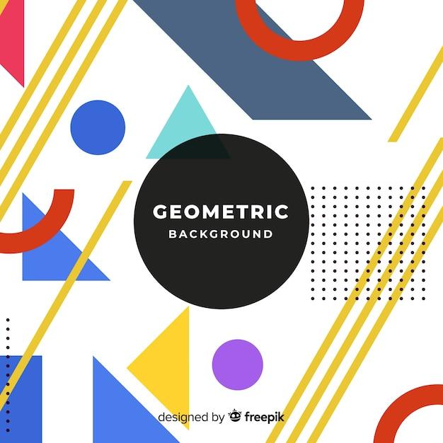 Abstrait Moderne Avec Dessin Géométrique Vecteur gratuit