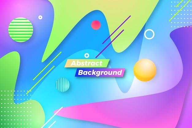 Abstrait moderne avec différents modèles de formes et de lignes créatives Vecteur Premium