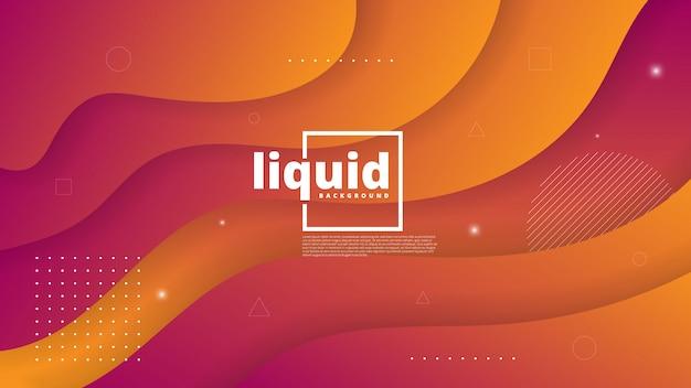 Abstrait Moderne Avec élément Fluide Et Liquide Vecteur Premium