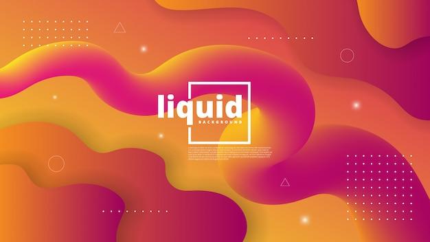 Abstrait Moderne Avec élément Vague, Liquide Et Liquide Vecteur Premium