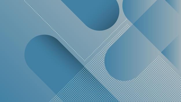 Abstrait Moderne Avec Des Lignes Diagonales Et élément Memphis Et Couleur Dégradé Bleu Doux Vecteur Premium