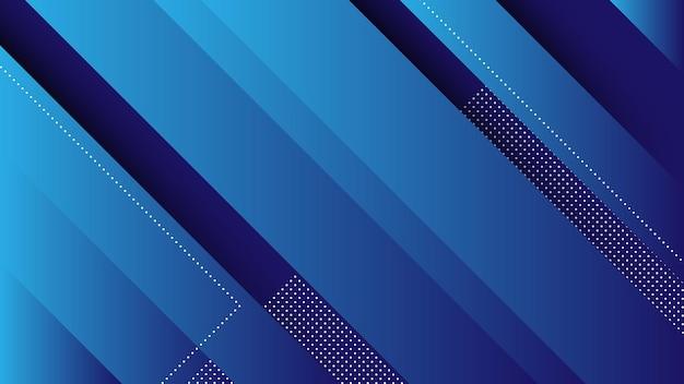 Abstrait Moderne Avec Des Lignes Diagonales Et élément Memphis Et Dégradé De Couleur Bleue Vecteur Premium