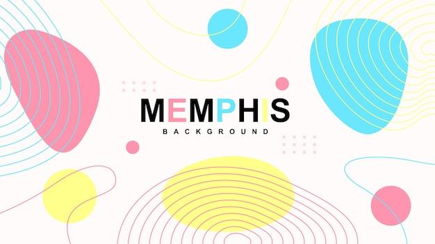 Abstrait Moderne De Memphis Avec Des éléments Vecteur Premium
