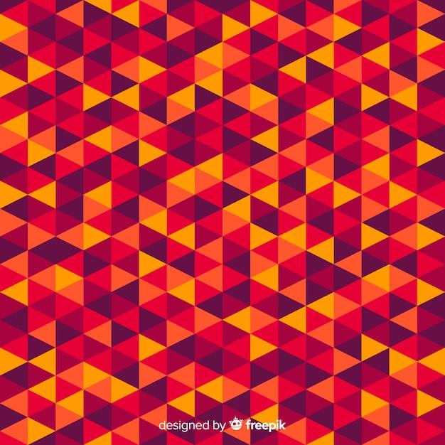 Abstrait moderne multicolore avec des formes géométriques Vecteur gratuit