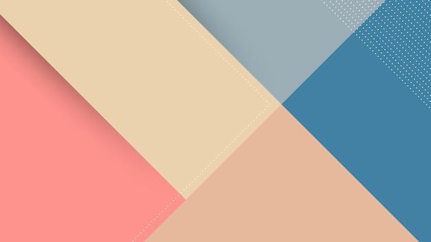Abstrait Moderne Avec Style Memphis Papercut Et Couleur Pastel Rose Vecteur Premium