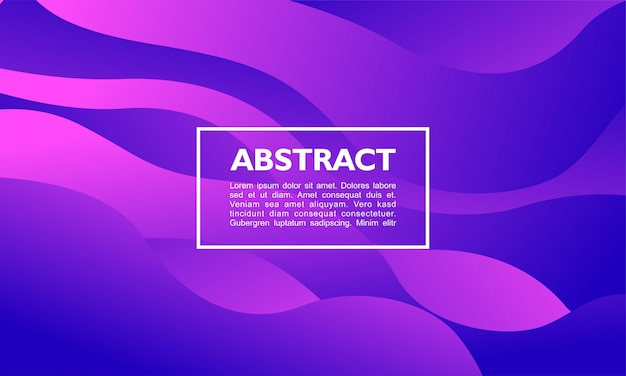 Abstrait moderne avec superposition de formes fluides et courbes en couleur pourpre Vecteur Premium