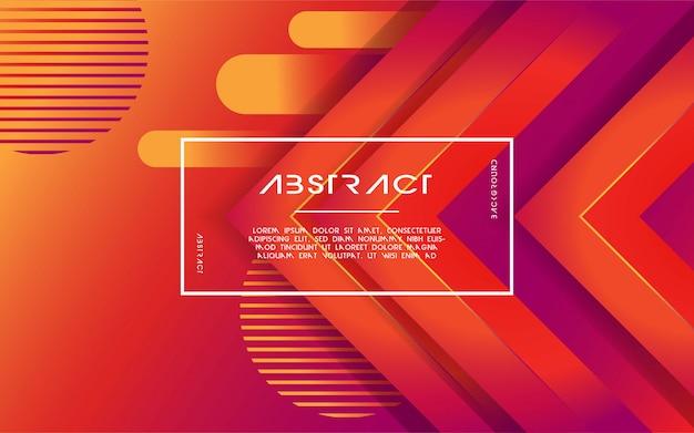 Abstrait moderne triangle dégradé 3d Vecteur Premium