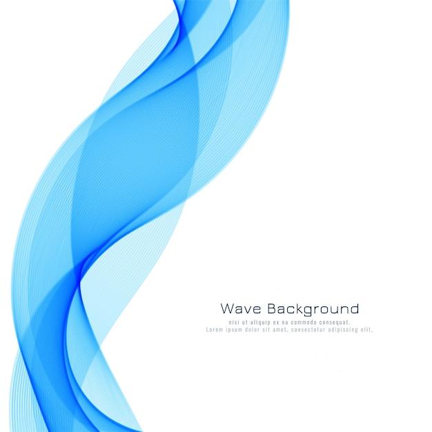 Abstrait moderne vague bleue Vecteur gratuit