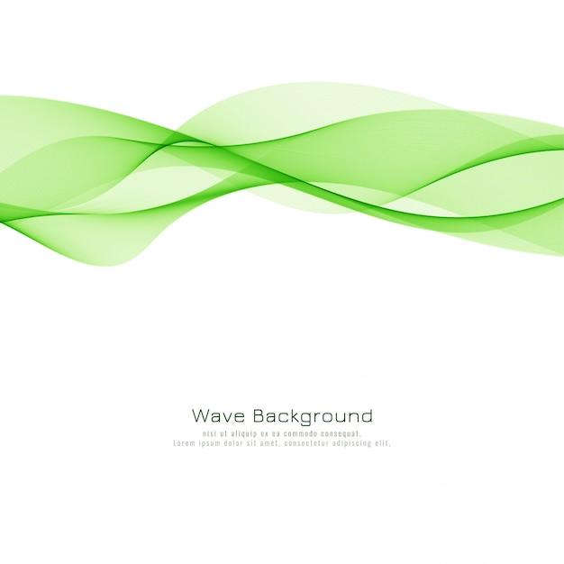Abstrait moderne vague verte Vecteur gratuit