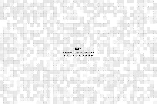 Abstrait motif carré gris et blanc de fond de décoration minimale. Vecteur Premium