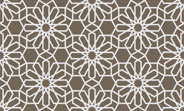 Abstrait motif géométrique sans couture dans le style arabe Vecteur Premium