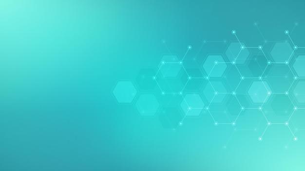 Abstrait Avec Motif Hexagones. Vecteur Premium