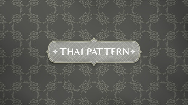 Abstrait Motif Traditionnel Thaïlandais. Vecteur Premium