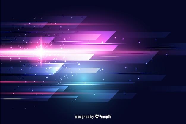 Abstrait mouvement de lumière Vecteur gratuit