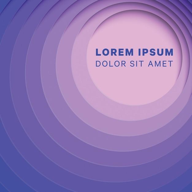 Abstrait multicolore avec des couches de papier rond Vecteur Premium