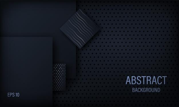 Abstrait noir élégant. Vecteur Premium