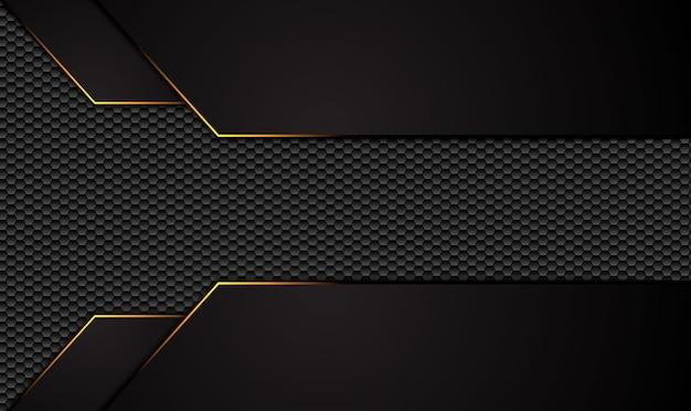 Abstrait Noir Métallique Avec Rayures Contrastées. Vecteur Premium