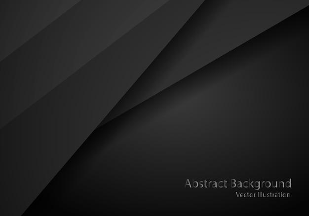 Abstrait noir avec modèle de cadre sombre Vecteur Premium
