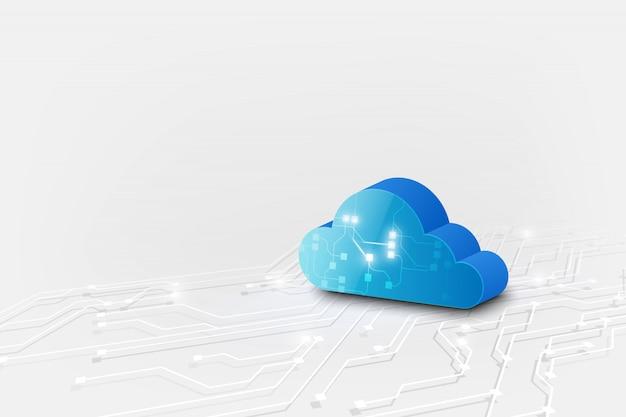 Abstrait nuage technologie système science fiction fond Vecteur Premium