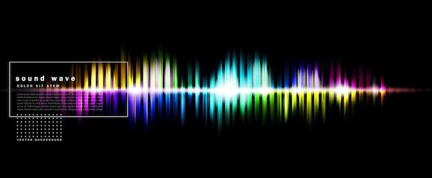 Abstrait Avec Une Onde Sonore Colorée Vecteur Premium
