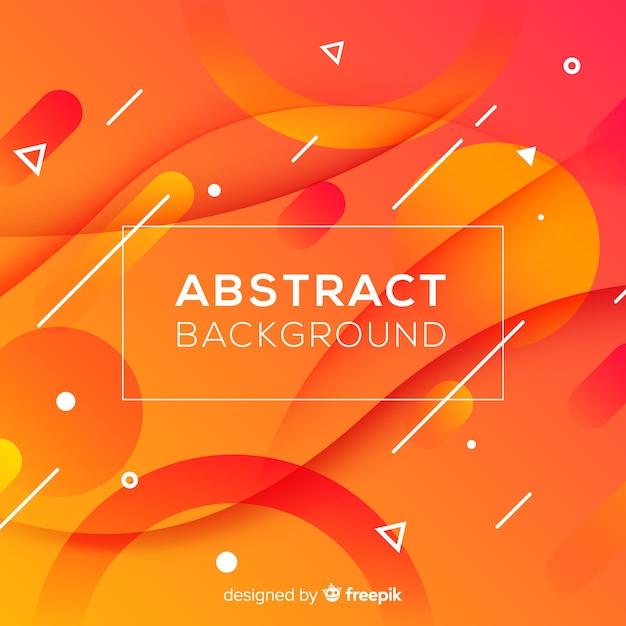 Abstrait orange avec des formes ondulées Vecteur gratuit