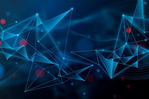 Abstrait De Particules De Technologie Réaliste Vecteur gratuit