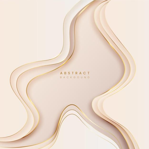 Abstrait De Pastelton Avec Golden Line Vecteur Premium