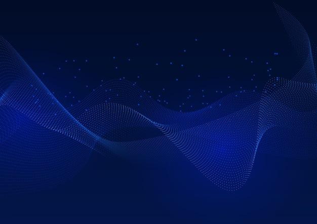 Abstrait Avec Des Points De Connexion Fluides Vecteur gratuit