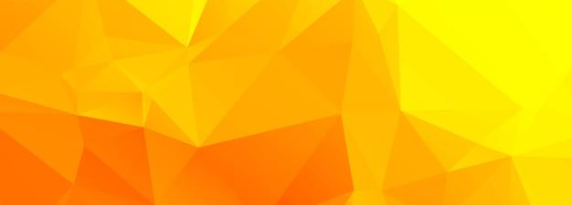 Abstrait Polygone Orange Et Jaune Vecteur gratuit