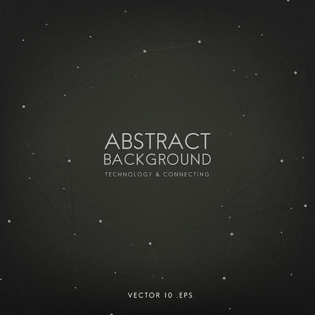 Abstrait pour la technologie en noir Vecteur gratuit
