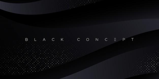 Abstrait Premium Noir Minimaliste Avec Des Elements Geometriques Sombres De Luxe Fond D Ecran Exclusif Pour Affiche Brochure Presentation Site Web Banniere Etc Vecteur Premium