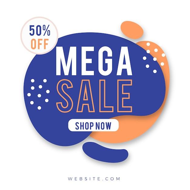 Abstrait promotion étiquette de vente Vecteur gratuit