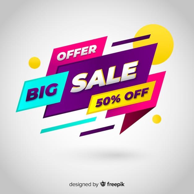 Abstrait promotion promotion vente Vecteur gratuit