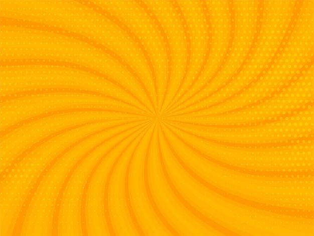 Abstrait De Rayons Jaunes Avec Un Design En Demi-teinte Vecteur gratuit
