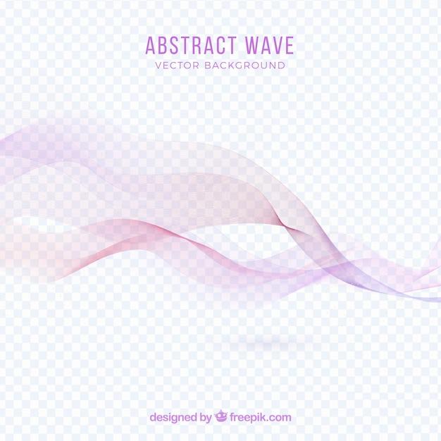 Abstrait rose wave backgroung Vecteur gratuit