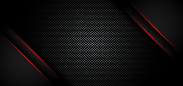 Abstrait Rouge Métallique Brillant Noir Vecteur Premium
