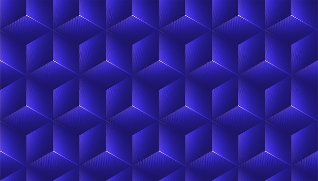 Abstrait Sans Couture Avec Décoration De Cube. Vecteur Premium