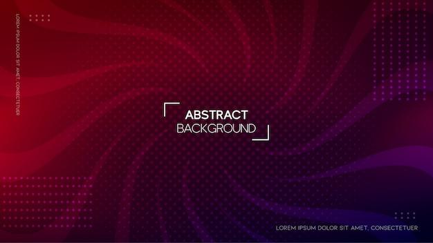 Abstrait Sinueux Avec Dégradé Vecteur Premium