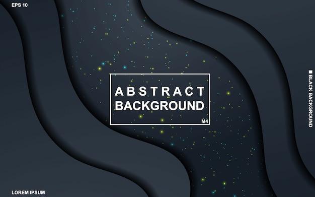 Abstrait sombre avec un motif géométrique noir et bleu minimal moderne. Vecteur Premium