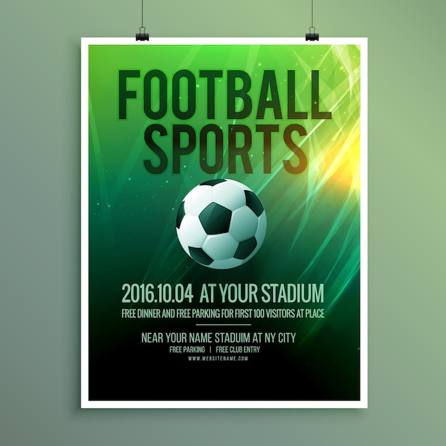 abstrait sport vecteur de football affiche flyer conception de modèle dans le vecteur Vecteur gratuit